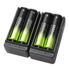 4X SKYWOLFEYE 5800mAh 18650 Battery 3.7V Rechargeable Li-ion+ 2X Smart Charger