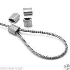 4 x 1.5mm Stainless Steel Wire Rope Ferrule Crimps AISI 316 - A4 Grade