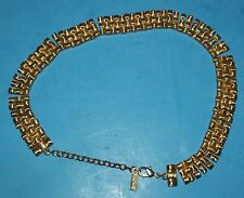 "Napier Gold Tone Necklace Signed Napier 15"" long Fashion Jewelry"