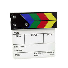 Proaim Mini Clapper Board White Acrylic Slate fr Best Video Film Movie Shooting