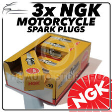 3x NGK Spark Plugs for MV AGUSTA 675cc Brutale 675 Trepistone 02/12-  No.2305