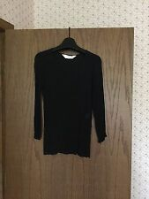 Women's Max Studio Leon Max 100% Rayon Long Sleeved Black Top Size M