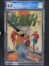 Flash #123 - CGC 6.5 FN+ DC 1961 - 1st GA Flash in SA - ORIGINS - 1st Earth 2!!!