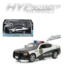 GREENLIGHT 1:43 FAST AND FURIOUS 5 2006 DODGE CHARGER DIE-CAST BLACK/WHITE 86237