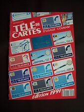 Répertoire des télécartes d'usage courant 1991