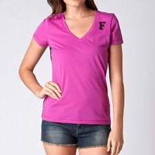 $24 Fox Racing Women's Rise V-neck Tee Berry Punch/Black Size XS