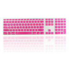 Pink Ultra Thin silicone keyboard cover with a numeric keypad for Apple iMac