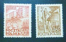 POLAND STAMPS MNH Fi605-06 ScB68-69 Mi746-47 - Building and electrification,1952