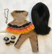 """13"""" Dianna Effner Little Darling Doll Ana Outfit + Shoes + Wig Necklace 33cm"""