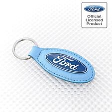 Richbrook Official Licensed Ford Logo Keyring Light Blue Leather Focus Fiesta Ka