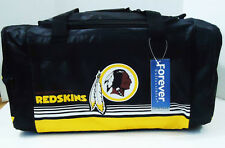 "Washington Redskins DUFFEL Bag Stripes Gym Training New 20"" x 11"" x 11"" NFL"