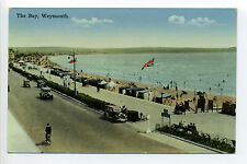 England Weymouth The Bay, people, antique cars, beach