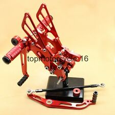 For Yamaha R6 06-14 CNC Footrests Footrest Pegs Rearsets Set Red 07 08 09 10 11