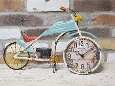 Vintage style Motorcycle clock unusual NEW
