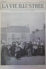 JOURNAL LA VIE ILLUSTREE N° 200 de 1902 BRETAGNE EXECUTION DECRETS GUILLOTINE