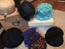 VINTAGE USA Circa 1950s/1960s? Union Made Feather Veil Felt Flower Hat Lot of 7