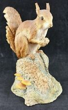 Border Fine Arts Squirrel on Stump, Marked Ayres VR 1980,  Tall