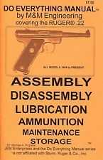 RUGER MKII .22 MODEL 1949 to present DO EVERYTHING MANUAL DISASSEMBLY CARE BOOK