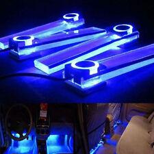 4 In 1 12V Light Blue Car Atmosphere Lamp Charge LED Interior Floor Decor Light