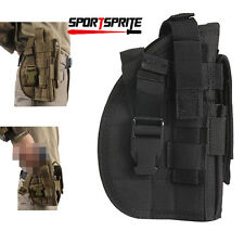 Tactical Molle Gun Pouch Military Pistol Panel Holster Hunting for Right Hand