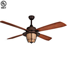 "ELLINGTON 56"" MORROW BAY ESPRESSO OUTDOOR WET RATED LIGHT Ceiling Fan MR56ESP4C1"