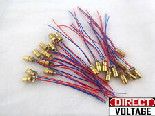 10 pcs  -   5V 650nm 6mm 5mW Mini Tube Laser Dot Diode Module Copper Head WL Red