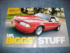 "1988 Mustang LX Hatch Street Strip Car Article ""Mr. Biggs' Stuff"""