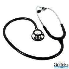 Brand New Dual Head Ultra Sensitive Non-Chill Rim Latex Free Black Stethoscope