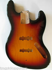 J Bass Body style Korpus US swamp ash 3 tone Sunburst replacementbody