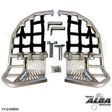 Yamaha YFZ 450R 450X  Nerf Bars  Pro Peg  Alba Racing  Silver Black 251 T7 SB