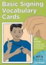 Basic Signing Vocabulary Flash Cards Set A (Sign Language Hearing Garlic Press