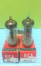 2 Strong  RCA 6C4 Vacuum Tubes Tested Good On Calibrated Hickok