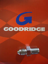 GOODRIDGE CHROME MALE BRAKE LINE FITTING 3/8-24 AN-3 BIG DOG HARLEY AIH
