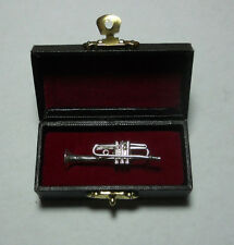 Silver Trumpet tie/lapel/hat pin. Nice gift idea.