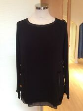 Latte Top Size 14 BNWT Black Gold Buttons RRP £128 Now £57