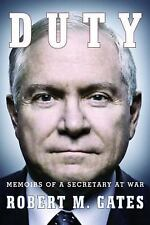 Duty : Memoirs of a Secretary at War by Robert M. Gates (2014, Hardcover)