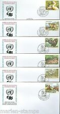 UNITED NATIONS ENDENGERED SPECIES 2000 SET OF 18   FIRST DAY COVERS AS SHOWN
