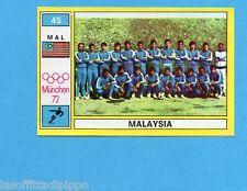 MUNCHEN/MONACO '72-PANINI-Figurina n.45- MALAYSIA - SQUADRA - CALCIO -Rec