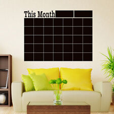 Monthly chalkboard Blackboard Vinyl Wall Sticker Month Plan Calendar Memo DIY