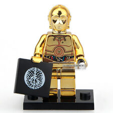 STAR WARS Gold-Plated C3PO Robot Building Blocks Minifigures Kids Toys Gifts