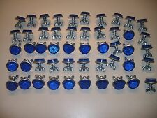"""50 Blue Goliath Tool Mini Bicycle Reflectors 7/8"""" Diameter with Wing nuts"""