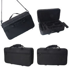 Clarinet Case Cover Padded Gig Bag w Side Pocket Single Shoulder Strap Black