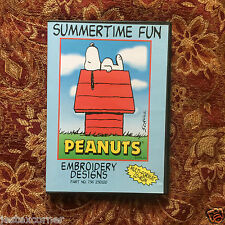 Snoopy Peanuts Summertime Fun Embroidery Designs Multi-format  CD PES HUS JEF +