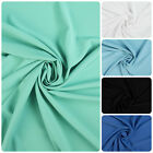 Plain Polyester One Way Stretch Fabric 5 Colour Ways (Per Metre)
