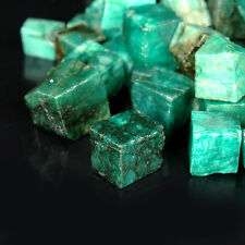 200.08 Cts Natural COLOMBIAN Emerald Gemstone UNPOLISHED Rough Cube LOT ##