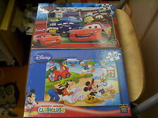 2 DISNEY JIGSAW PUZZLES CHILDRENS 5+ NEW & SEALED MICKEY MOUSE, CARS KING