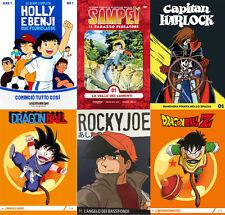 6 DVD N. 01 SAMPEI-HOLLY E BENJI-DRAGONBALL-ROCKY JOE-CAPITAN HARLOCK - GAZZETTA