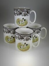 Spode Woodland Hunting Dogs Mugs Set of 4 Pointer Motif Made in England NEW