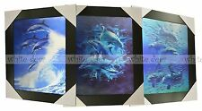 3 Dimension 3D Lenticular Picture Seaworld Ocean Sea Dolphin Pack Wave Cluster