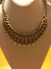 $425 Givenchy White Glass Pearl Frontal Statement  Necklace